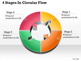 1013 Busines Ppt diagram 4 Stages In Circular Flow Powerpoint Template