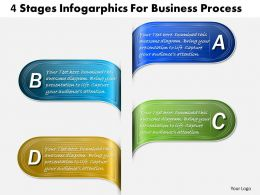 1013 Busines Ppt diagram 4 Stages Infogarphics For Business Process Powerpoint Template