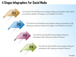 1013 Busines Ppt diagram 4 Stages Infographics For Social Media Powerpoint Template