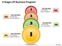 1013 Busines Ppt diagram 4 Stages Of Business Program Powerpoint Template
