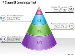1013 Busines Ppt diagram 4 Stages Of Complicated Task Powerpoint Template