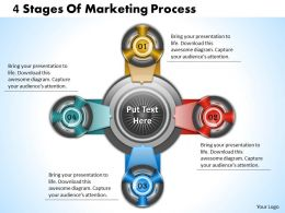 1013 Busines Ppt diagram 4 Stages Of Marketing Process Powerpoint Template