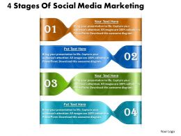 1013 Busines Ppt diagram 4 Stages Of Social Media Marketing Powerpoint Template