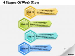 1013 Busines Ppt diagram 4 Stages Of Work Flow Powerpoint Template