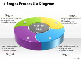 1013 Busines Ppt diagram 4 Stages Process List Diagram Powerpoint Template