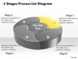 1013 Busines Ppt diagram 4 Stages Process List Diagram Powerpoint Template