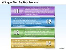 1013 Busines Ppt diagram 4 Stages Step By Step Process Powerpoint Template