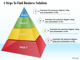 1013 Busines Ppt diagram 4 Steps To Find Business Solution Powerpoint Template