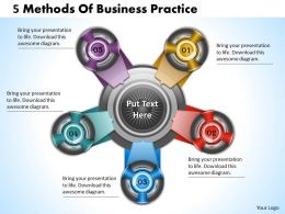 1013 Busines Ppt diagram 5 Methods Of Business Practice Powerpoint Template