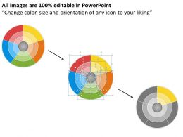 1013 Busines Ppt diagram 5 Sections Radial Diagram Powerpoint Template