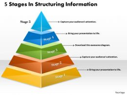 1013 Busines Ppt diagram 5 Stages In Structuring Information Powerpoint Template