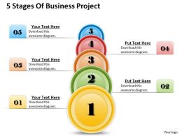 1013 Busines Ppt diagram 5 Stages Of Business Project Powerpoint Template