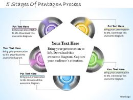 1013 Busines Ppt diagram 5 Stages Of Pentagon Process Powerpoint Template