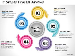1013 Busines Ppt diagram 5 Stages Process Arrows Powerpoint Template