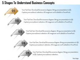 1013 Busines Ppt diagram 5 Stages To Understand Business Concepts Powerpoint Template