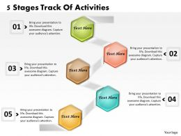 1013 Busines Ppt diagram 5 Stages Track Of Activities Powerpoint Template