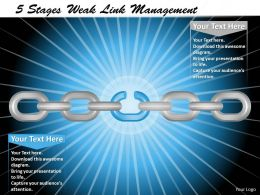 1013 Busines Ppt diagram 5 Stages Weak LinK Process Management Powerpoint Template