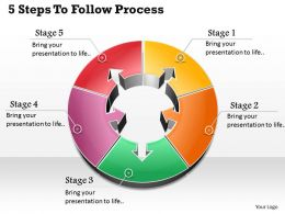 1013 Busines Ppt diagram 5 Steps To Follow Process Powerpoint Template