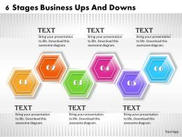 1013 Busines Ppt diagram 6 Stages Business Ups and Downs Powerpoint Template