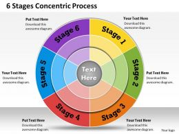 1013 Busines Ppt diagram 6 Stages Cocentric Process Powerpoint Template