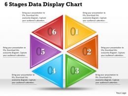 1013 Busines Ppt diagram 6 Stages Data Display Chart Powerpoint Template