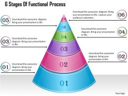 1013 Busines Ppt diagram 6 Stages Of Functional Process Powerpoint Template