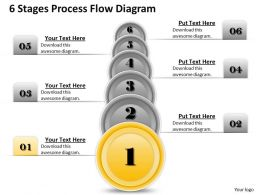 1013 Busines Ppt diagram 6 Stages Process Flow Diagram Powerpoint Template