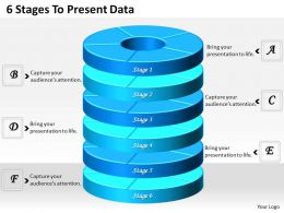 1013 Busines Ppt diagram 6 Stages To Present Data Powerpoint Template