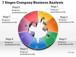 1013 Busines Ppt diagram 7 Stages Company Business Analysis Powerpoint Template
