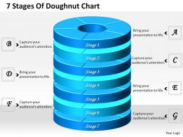 1013 Busines Ppt diagram 7 Stages Of Doughnut Chart Powerpoint Template