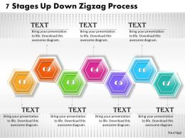 1013 Busines Ppt diagram 7 Stages Up Down Zigzag Process Powerpoint Template