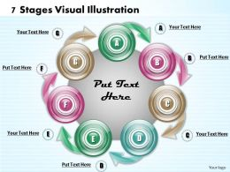 1013 Busines Ppt diagram 7 Stages Visual Illustration Powerpoint Template