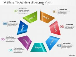 1013 Busines Ppt diagram 7 Steps To Achieve Strategy Goal Powerpoint Template