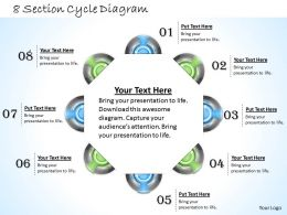 1013 Busines Ppt diagram 8 Section Cycle Diagram Powerpoint Template