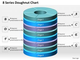 1013 Busines Ppt diagram 8 Series Doughnut Chart Powerpoint Template