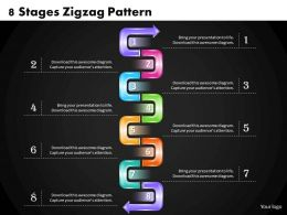 1013 Busines Ppt diagram 8 Stages Zigzag Pattern Powerpoint Template