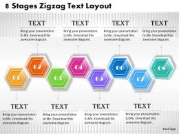1013 Busines Ppt diagram 8 Stages Zigzag Text Layout Powerpoint Template