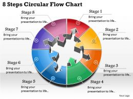 1013 Busines Ppt diagram 8 Steps Circular Flow Chart Powerpoint Template