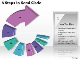 1013 Busines Ppt diagram 8 Steps In Semi Circle Powerpoint Template