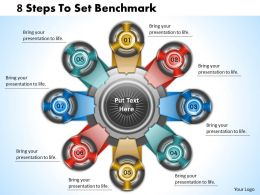 1013 Busines Ppt diagram 8 Steps To Set Benchmark Powerpoint Template