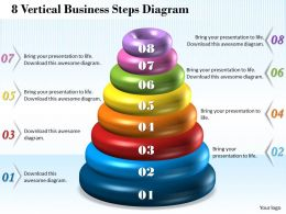 1013 Busines Ppt diagram 8 Vertical Business Steps Diagram Powerpoint Template