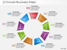 1013 Busines Ppt diagram 9 Circular Business Steps Powerpoint Template