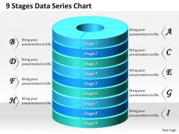 1013 Busines Ppt diagram 9 Stages Data Series Chart Powerpoint Template