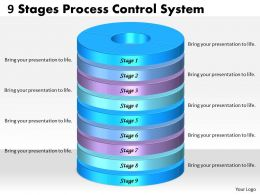1013 Busines Ppt diagram 9 Stages Process Control System Powerpoint Template