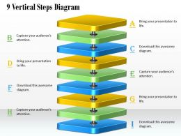 1013 Busines Ppt diagram 9 Vertical Steps Diagram Powerpoint Template