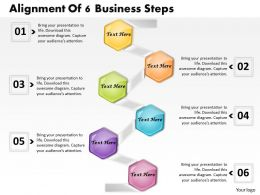 1013 Busines Ppt diagram Alignment Of 6 Business Steps Powerpoint Template