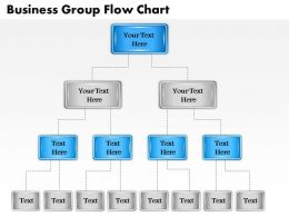 1013 Busines Ppt diagram Business Group Flow Chart Powerpoint Template