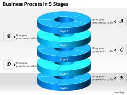 1013 Busines Ppt diagram Business Process In 5 Stages Powerpoint Template