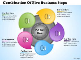 1013 Busines Ppt diagram Combination Of Five Business Steps Powerpoint Template