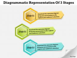 1013 Busines Ppt diagram Diagrammatic Representation Of 3 Stages Powerpoint Template